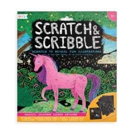 112412 OOLY Skrapmotiv Magical Unicorn Scratch & Scribble Scratch Art Kit
