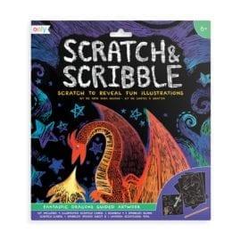 112413 OOLY Skrapmotiv Fantastic Dragon Scratch & Scribble Art Kit
