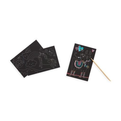 112414-2 OOLY Skrapmotiv Funtastic Friends Scratch & Scribble Mini Art Kit