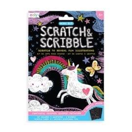 112414 OOLY Skrapmotiv Funtastic Friends Scratch & Scribble Mini Art Kit