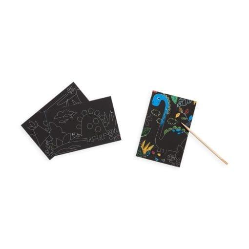 112415-1 OOLY Skrapmotiv Dinosaur Days Scratch & Scribble Mini Art Kit