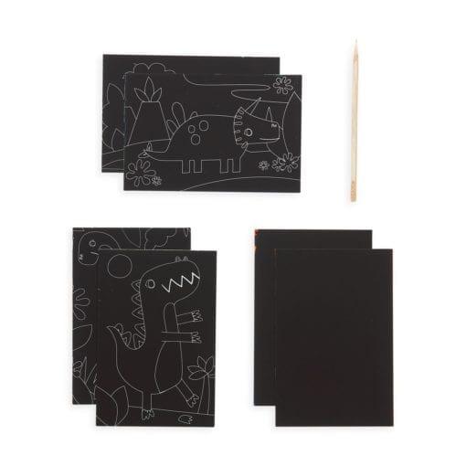 112415-2 OOLY Skrapmotiv Dinosaur Days Scratch & Scribble Mini Art Kit