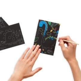 112415 OOLY Skrapmotiv Dinosaur Days Scratch & Scribble Mini Art Kit