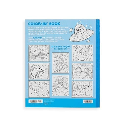 112416-10 OOLY Målarbok Outer Space Explorers Coloring Book