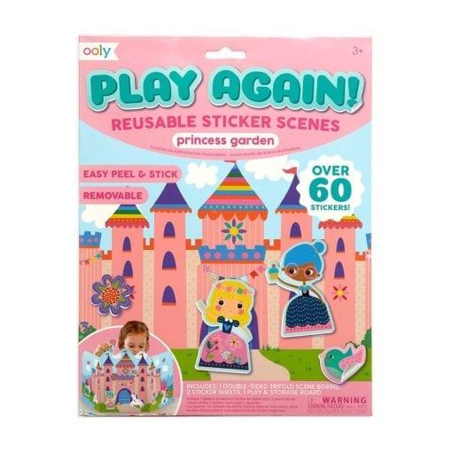 112418-1 OOLY Återanvändbara Klistermärken Reusable Sticker Scenes - Princess Garden