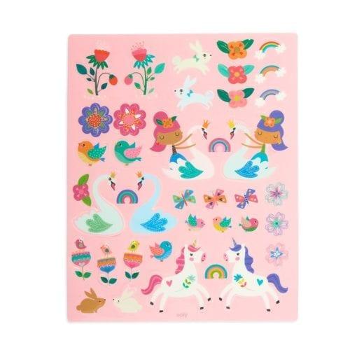 112418-2 OOLY Återanvändbara Klistermärken Reusable Sticker Scenes - Princess Garden