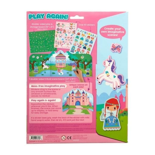 112418-3 OOLY Återanvändbara Klistermärken Reusable Sticker Scenes - Princess Garden