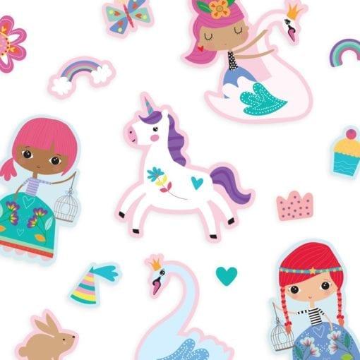 112418-4 OOLY Återanvändbara Klistermärken Reusable Sticker Scenes - Princess Garden