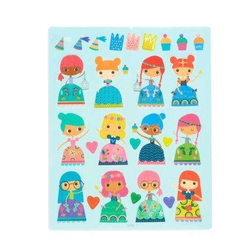 112418-5 OOLY Återanvändbara Klistermärken Reusable Sticker Scenes - Princess Garden