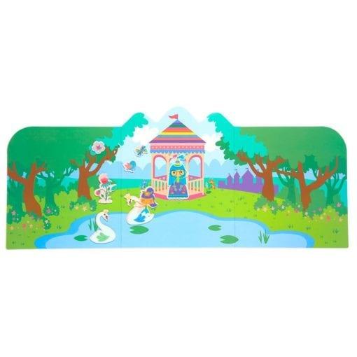 112418-6 OOLY Återanvändbara Klistermärken Reusable Sticker Scenes - Princess Garden