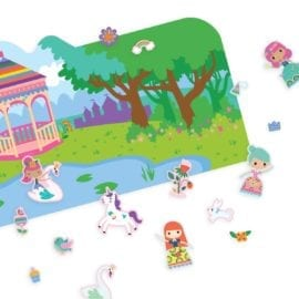 112418-7 OOLY Återanvändbara Klistermärken Reusable Sticker Scenes - Princess Garden