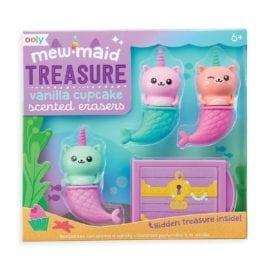 112430 OOLY Luktsudd Mew-Maid Treasure Vanilla Cupcake Scented Erasers