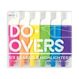 112432 OOLY Raderbara Överstrykningspennor Do-overs Erasable Highlighters - Set om 6