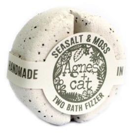 112492 Agnes+Cat Presentbox Veganska Bad Fizzers Sea Salt & Moss + Japanese Bloom + Dolly Blue