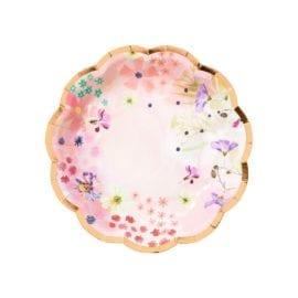 112527 Talking Tables Papperstallrikar Blommönster 18 cm 12 st - Blossom Brides