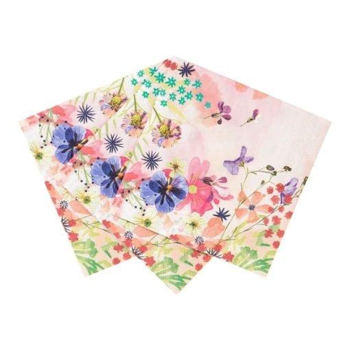 112528-1 Talking Tables Servetter Blommönster 20 st - Blossom Brides