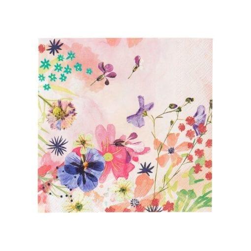 112528 Talking Tables Servetter Blommönster 20 st - Blossom Brides