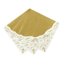 112530-1 Talking Tables Servetter Vintage Guld 20 st - Party Porcelain