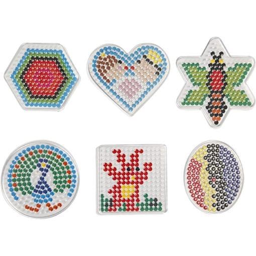 112568 Pärlplattor Hjärta, Stjärna & Geometriska former till Rörpärlor Medium Ø 5 mm 6-Pack