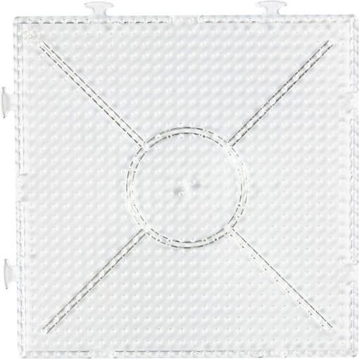 112569 Pärlplatta Byggbar Kvadrat 15x15 cm till Rörpärlor Medium Ø 5 mm