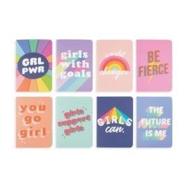 112579-2 OOLY Anteckningsbok Pocket Pal Journals Girl Power - Set om 8