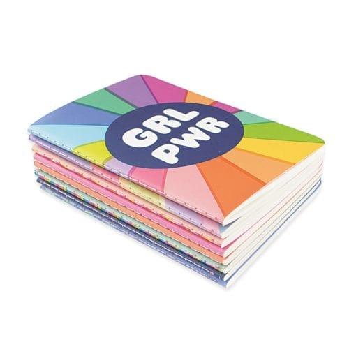 112579 OOLY Anteckningsbok Pocket Pal Journals Girl Power - Set om 8
