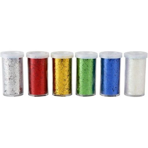112588-1 Fiberglitter Metallicfärger 6x20 g