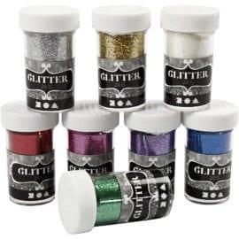112589 Glitter Mixade Färger 8x20 g