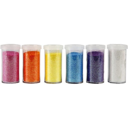 112590-1 Glitter Mixade färger 6x20 g