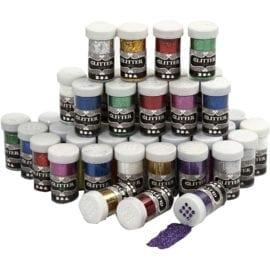 112591-1 Glitter Mixade färger 20 g