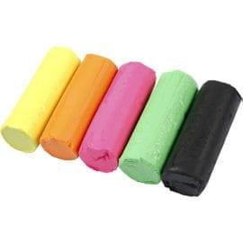 112595 Soft Clay Klassisk Modellera 5 Neonfärger Hink 400 g