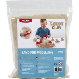112596 Sandy Clay® Modellerbar Sand Natur 1 kg