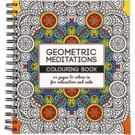 112598 West Design Målarbok Antistress Geometric Meditations