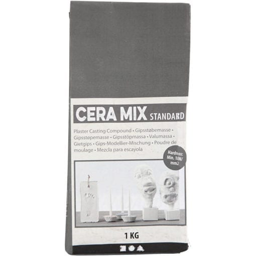 112600 Modellgips Cera Mix Gjutmassa Ljusgrå Standard 1 kg
