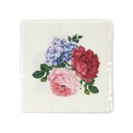 112610-1 Talking Tables Servetter Blomster 25x25 cm 20 st - Truly Scrumptious