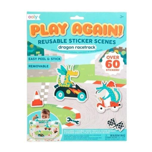 112613-7 OOLY Återanvändbara Klistermärken Dragon Racetrack Reusable Sticker Scenes