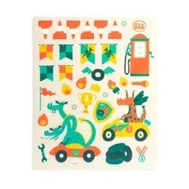 112613-8 OOLY Återanvändbara Klistermärken Dragon Racetrack Reusable Sticker Scenes