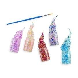 112614-9 OOLY Glitterlim Mini Dots Pixie Paste Brush-On Glitter Glue - Set om 5