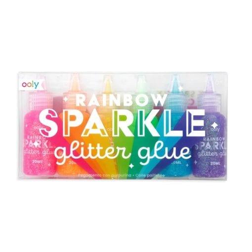 112615-1 OOLY Glitterlim Rainbow Sparkle Glitter Glue - Set om 6