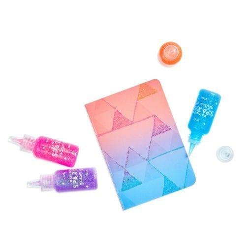 112615-2 OOLY Glitterlim Rainbow Sparkle Glitter Glue - Set om 6