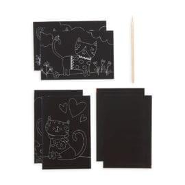 112621-2 OOLY Skrapmotiv Cutie Cats Scratch And Scribble Mini Art Kit