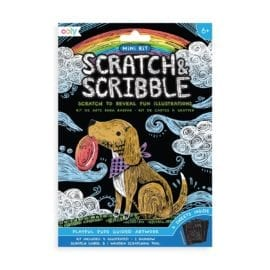 112622 OOLY Skrapmotiv Playful Pups Mini Scratch And Scribble