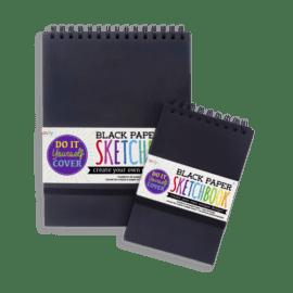 112623-1 OOLY Skissblock Svart Papper DIY Cover Sketchbook
