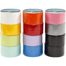 112629-1 Gaffatejp Mixade Färger B 48 mm 12x5 m