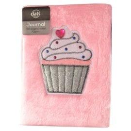 112631 Anteckningsbok Plysch A5 Cupcake