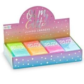 112637-1 OOLY Suddgummi Oh My Glitter Jumbo Erasers