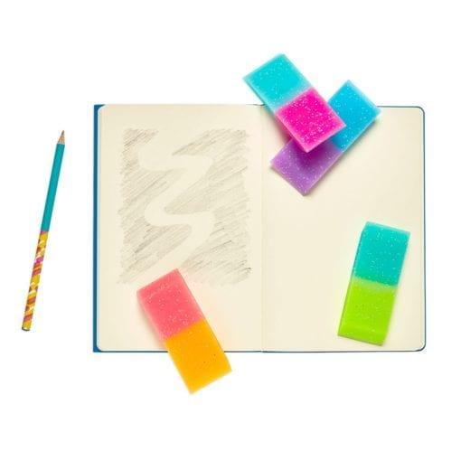 112637-8 OOLY Suddgummi Oh My Glitter Jumbo Erasers
