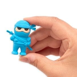 112642-1 OOLY Suddgummi Ninja Erasers Set om 3