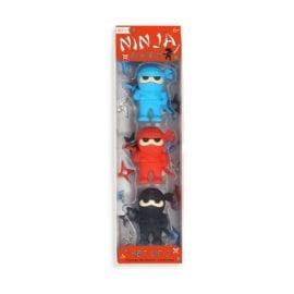 112642-2 OOLY Suddgummi Ninja Erasers Set om 3