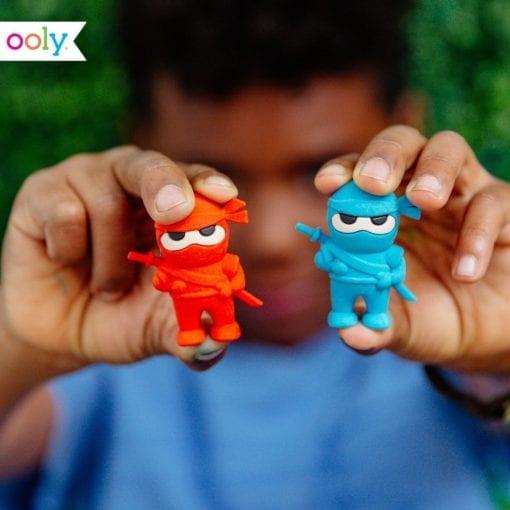 112642-3 OOLY Suddgummi Ninja Erasers Set om 3